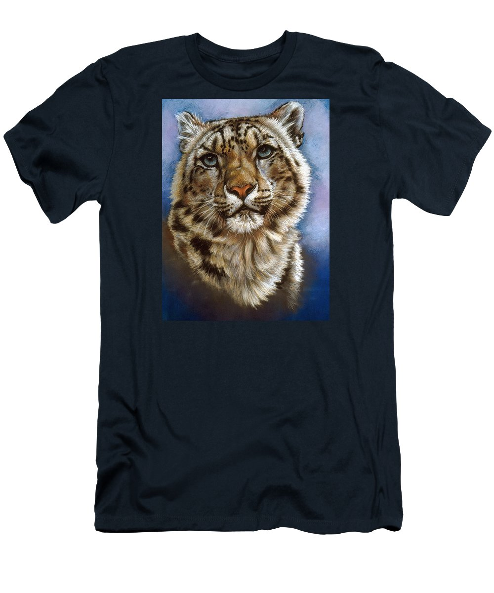 Snow Leopard T-Shirt featuring the pastel Jewel by Barbara Keith