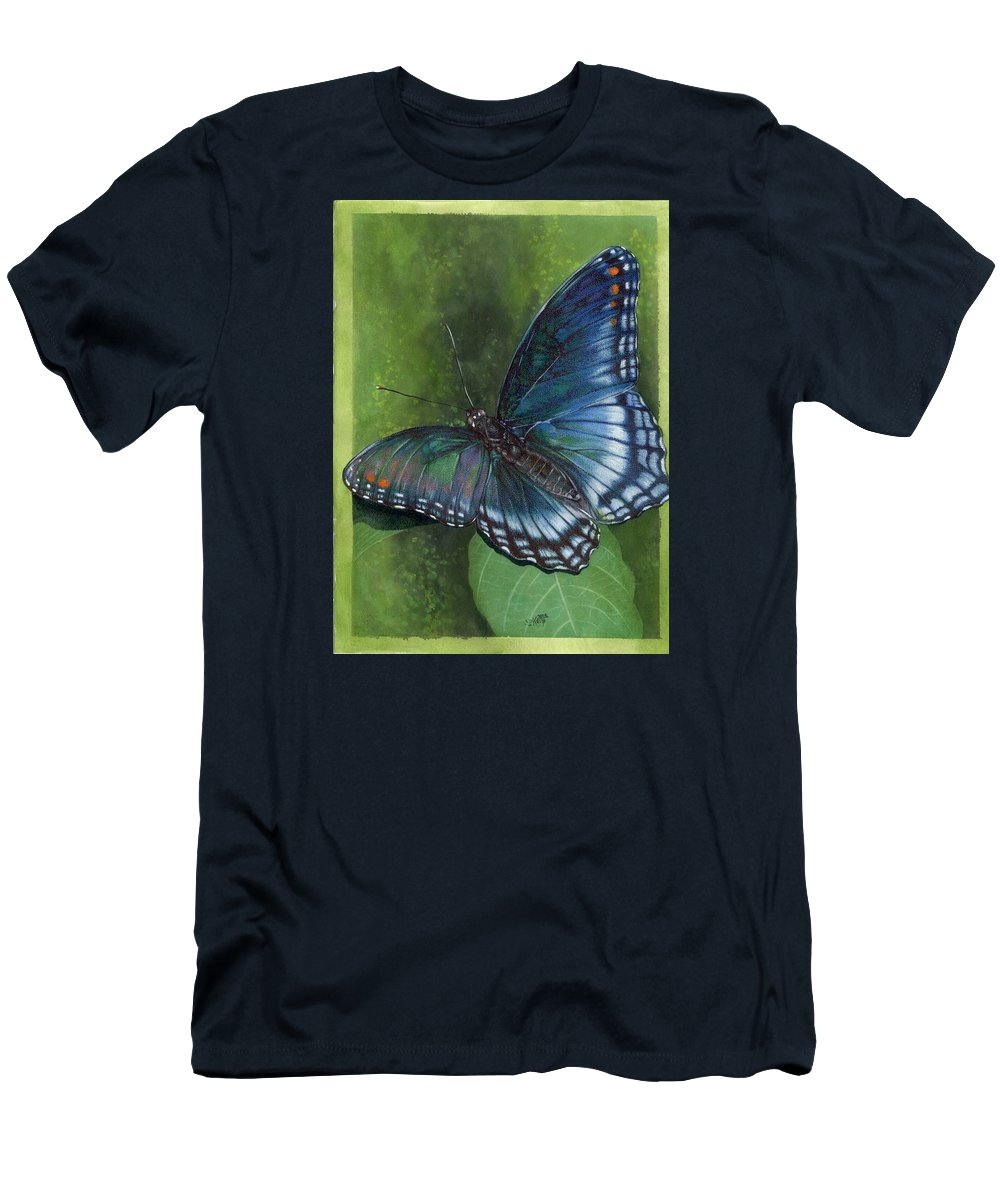 Insects Men's T-Shirt (Athletic Fit) featuring the mixed media Jewel Tones by Barbara Keith