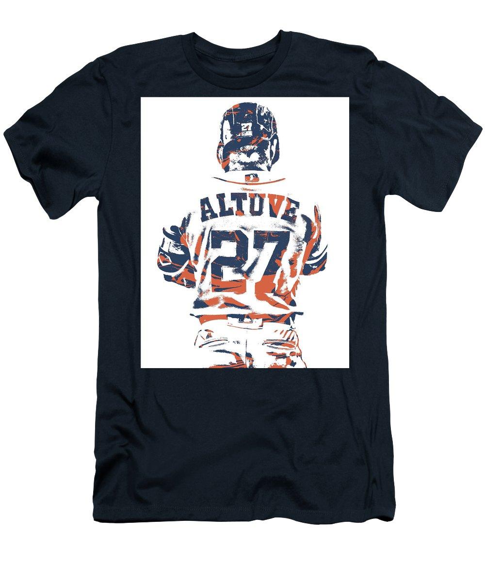 quality design f82ea 6cccc Jose Altuve Houston Astros Pixel Art 10 Men's T-Shirt (Athletic Fit)