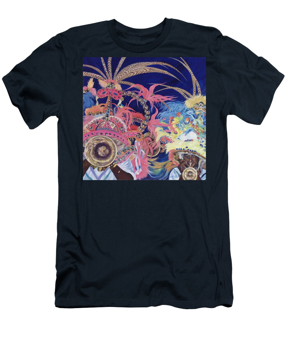 Bahamas Men's T-Shirt (Athletic Fit) featuring the painting Junkanoo by Danielle Perry