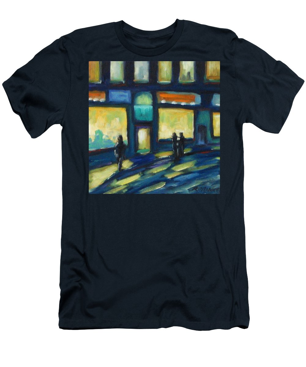 Town Men's T-Shirt (Athletic Fit) featuring the painting Just Looking by Richard T Pranke