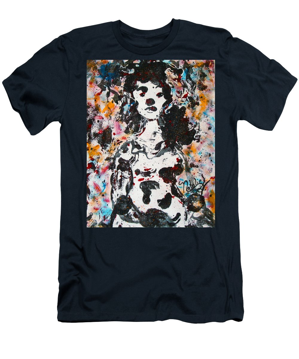 Expressionism Men's T-Shirt (Athletic Fit) featuring the painting Kakia by Natalie Holland