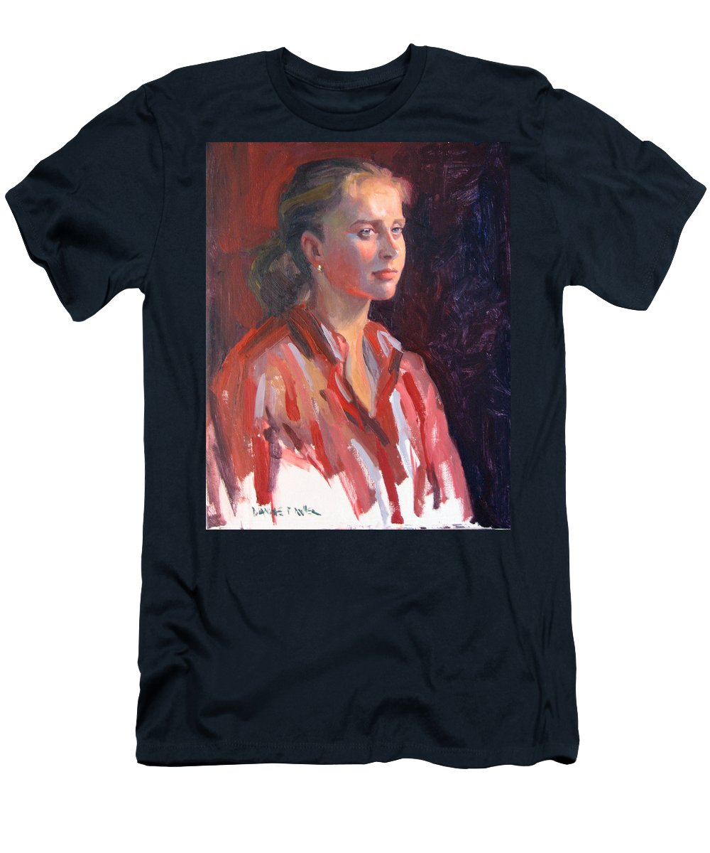 Portrait Men's T-Shirt (Athletic Fit) featuring the painting Kate by Dianne Panarelli Miller