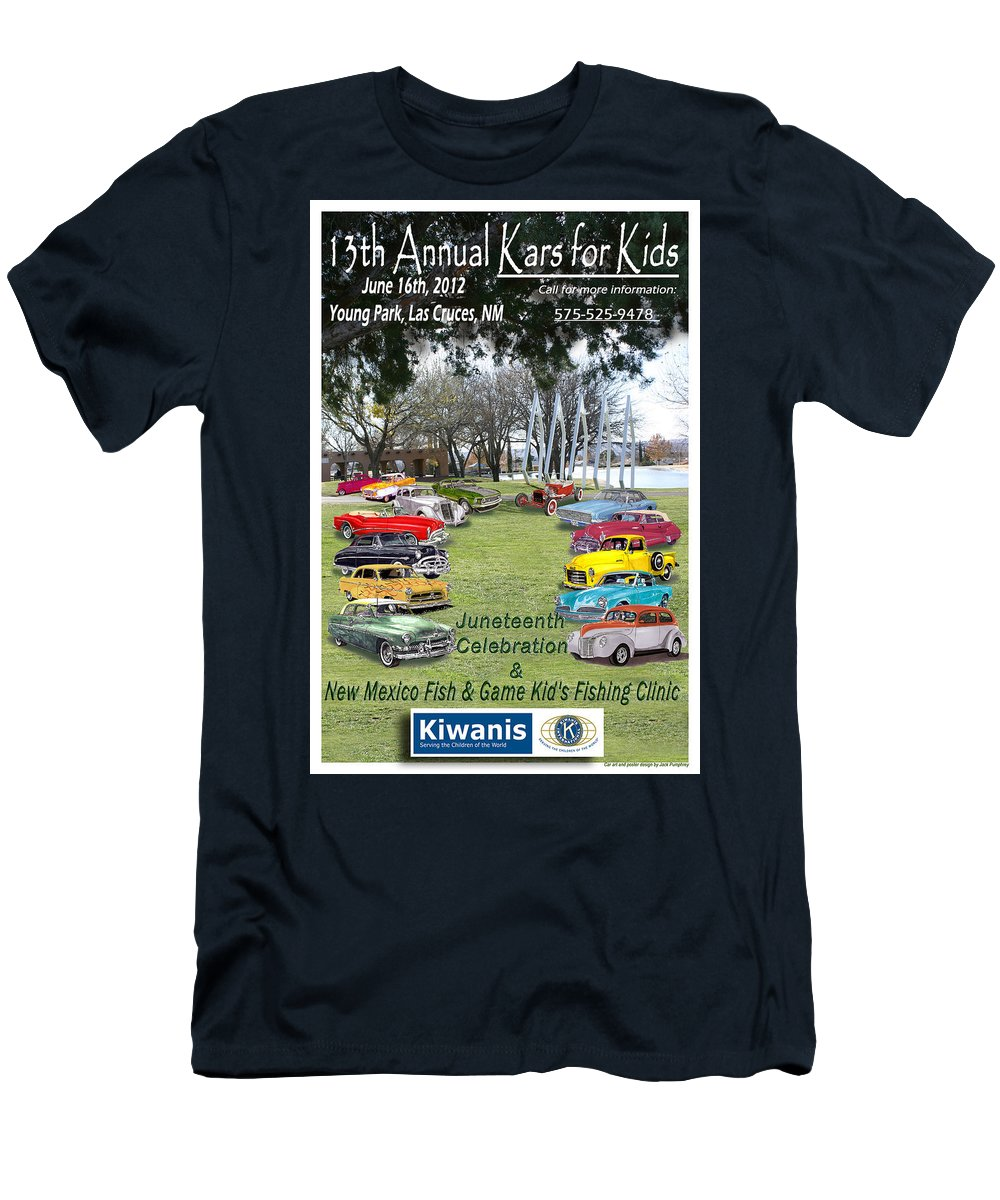 Event Posters Men's T-Shirt (Athletic Fit) featuring the painting Kawanis Event Poster by Jack Pumphrey