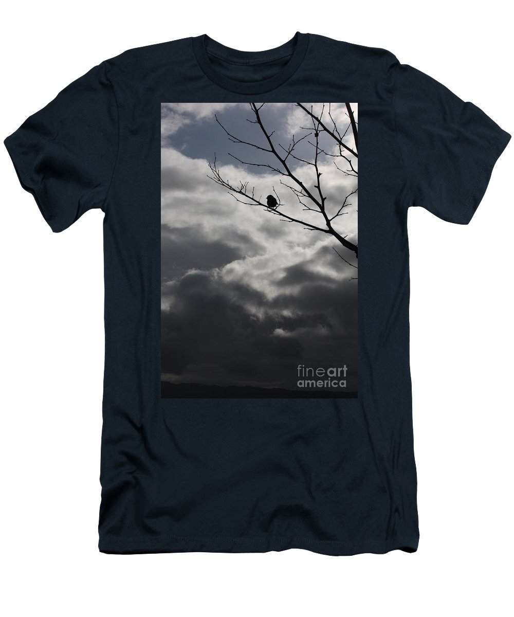 Storm Men's T-Shirt (Athletic Fit) featuring the photograph Keeping Above The Storm by Carol Groenen
