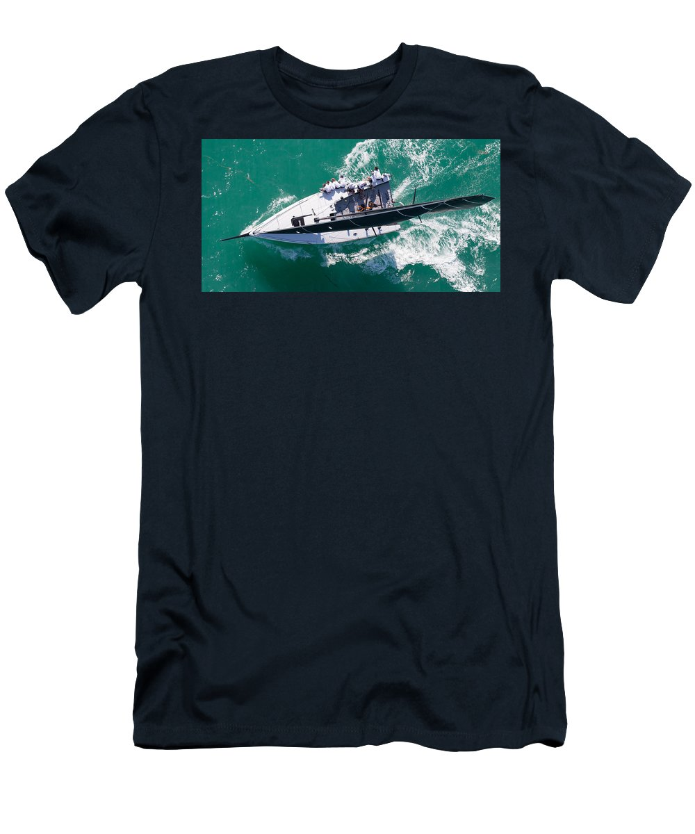Water Men's T-Shirt (Athletic Fit) featuring the photograph Key West 2015 by Steven Lapkin