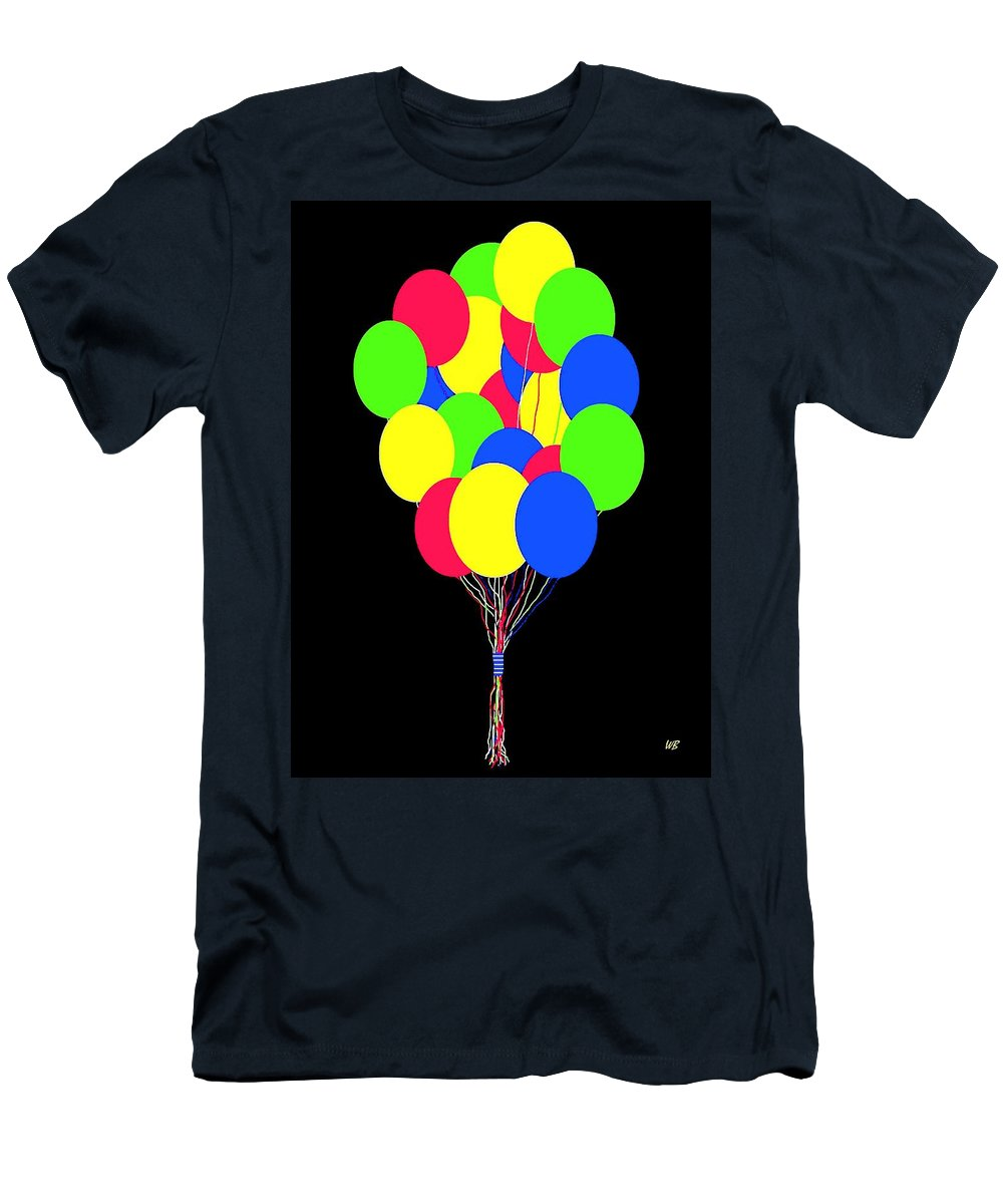 Balloons Men's T-Shirt (Athletic Fit) featuring the digital art Kids Korner Balloons by Will Borden