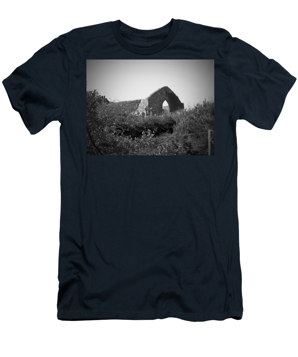 Irish Men's T-Shirt (Athletic Fit) featuring the photograph Kilmanaheen Church Ruins Ennistymon Ireland by Teresa Mucha