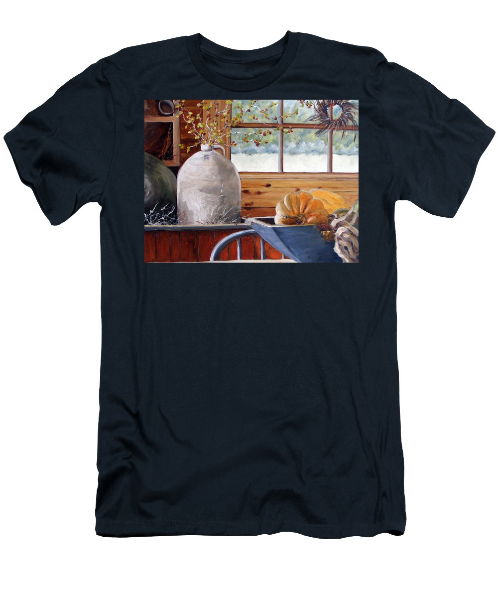 Kitchen Men's T-Shirt (Athletic Fit) featuring the painting Kitchen Scene by Richard T Pranke