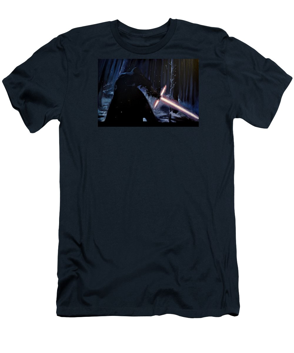 Kylo Ren Men's T-Shirt (Athletic Fit) featuring the painting Kylo-ren by Ruben Barbosa