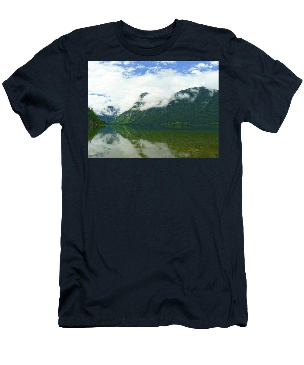 Bohinj Men's T-Shirt (Athletic Fit) featuring the photograph Lake Bohinj by Daniel Csoka