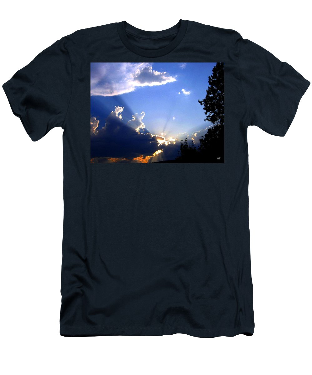 Sunburst Men's T-Shirt (Athletic Fit) featuring the photograph Lake Country Sunburst by Will Borden