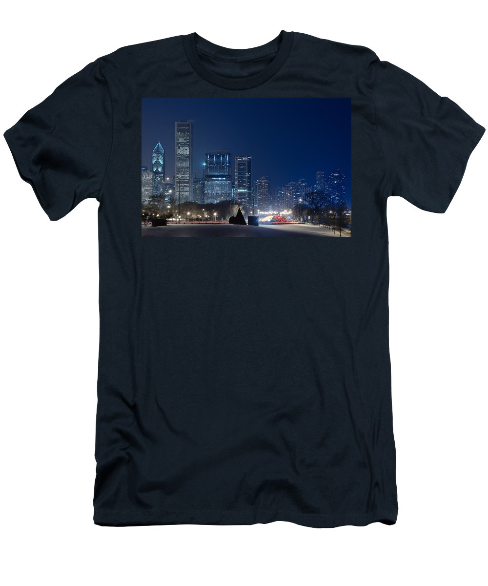 Building Men's T-Shirt (Athletic Fit) featuring the photograph Lake Shore Drive Chicago by Steve Gadomski