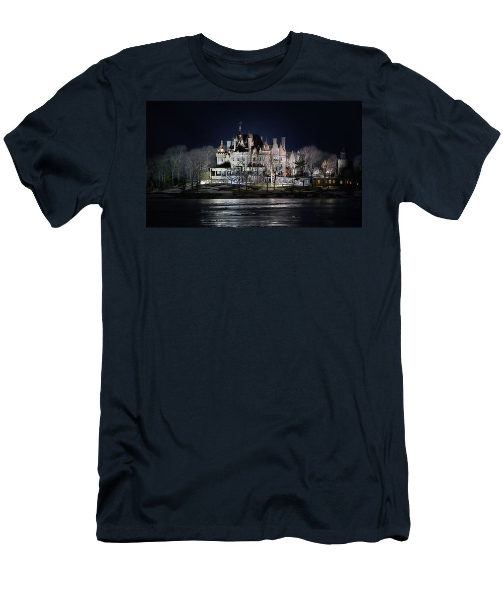 Boldt Castle Men's T-Shirt (Athletic Fit) featuring the photograph Let The Light On by Lori Deiter