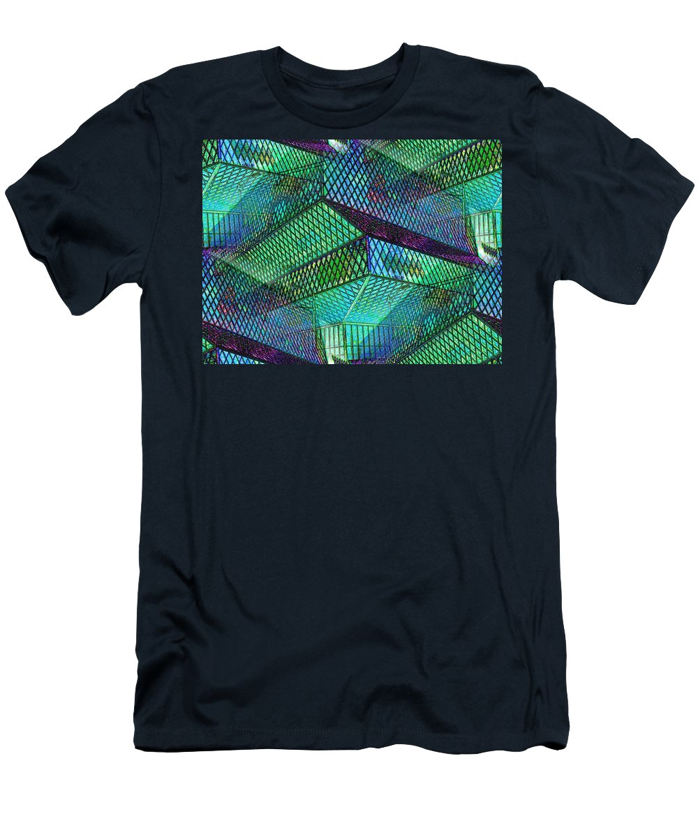 Seattle Men's T-Shirt (Athletic Fit) featuring the photograph Library Angles by Tim Allen