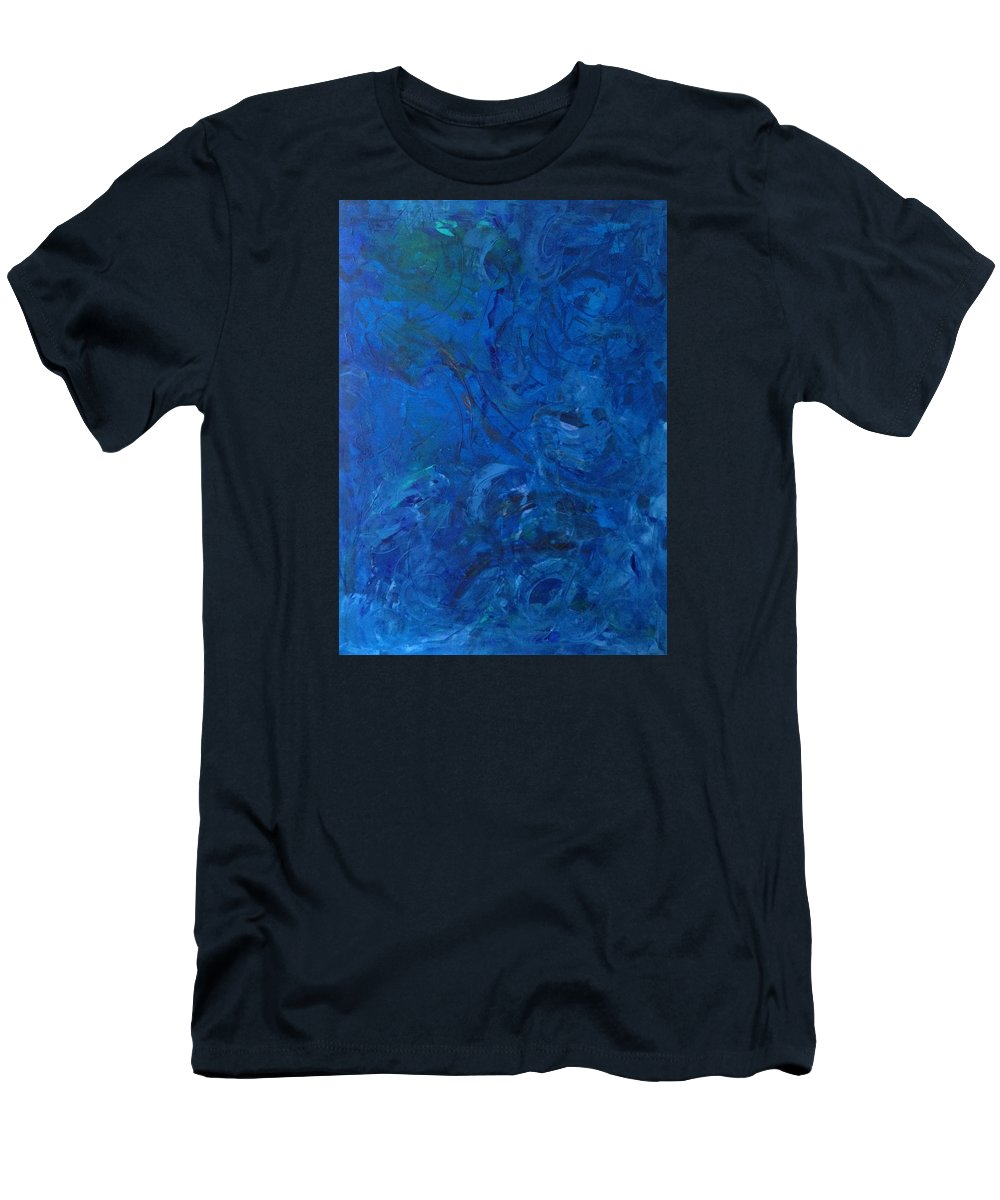 Abstract Art Men's T-Shirt (Athletic Fit) featuring the painting Lightweight Nebula Xxx by John Dossman