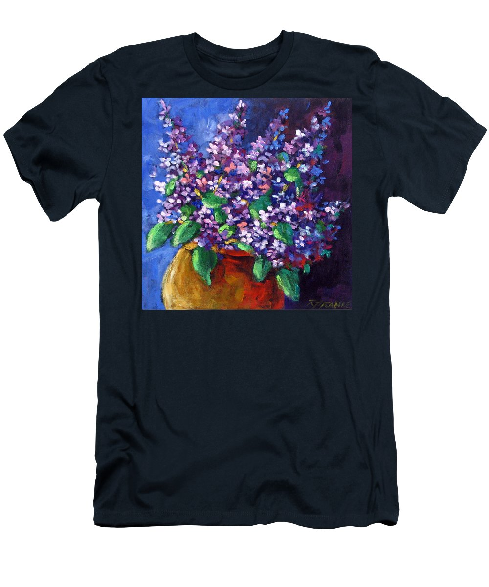 Art Men's T-Shirt (Athletic Fit) featuring the painting Lilacs by Richard T Pranke