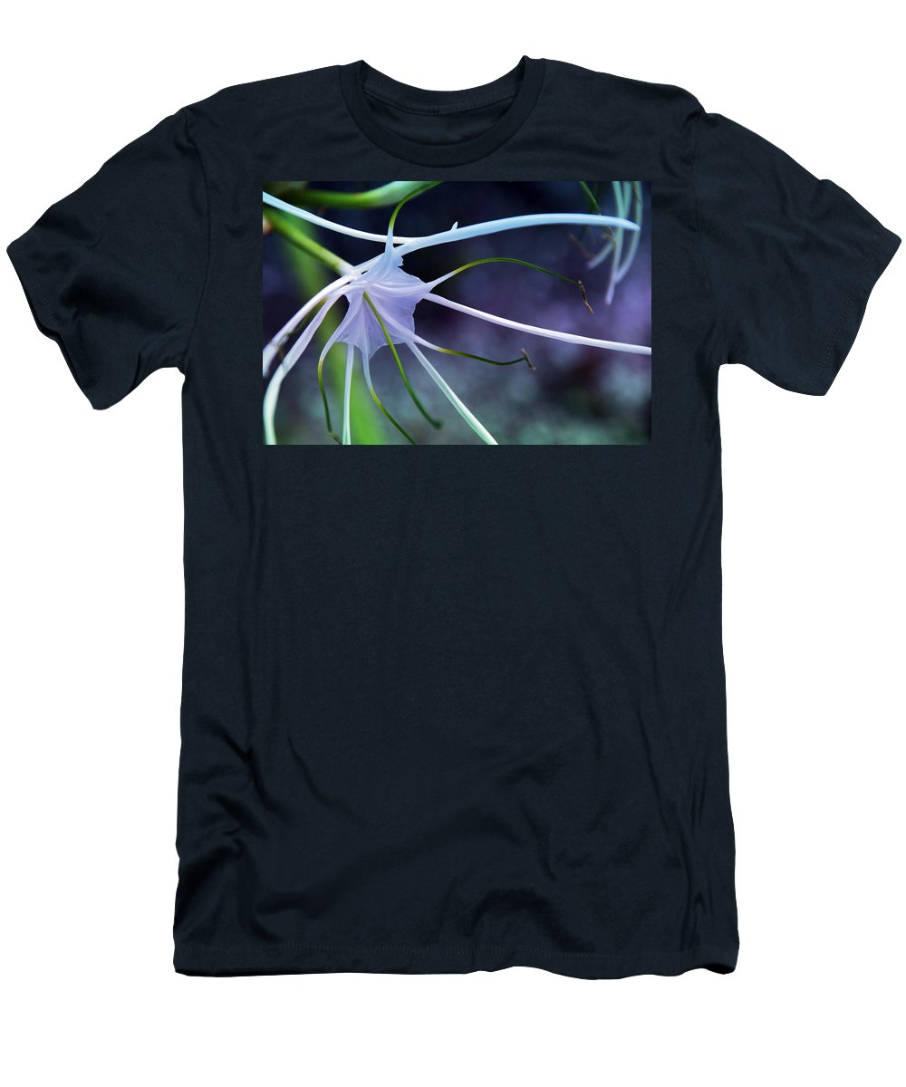 Flower Men's T-Shirt (Athletic Fit) featuring the photograph Lilly Flower Purple by Susanne Van Hulst