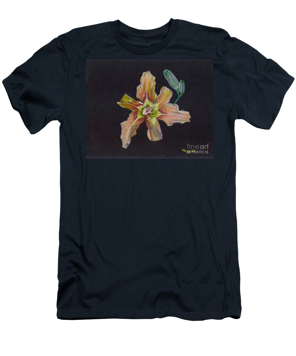 Lily Men's T-Shirt (Athletic Fit) featuring the pastel Lily 2 by Mendy Pedersen