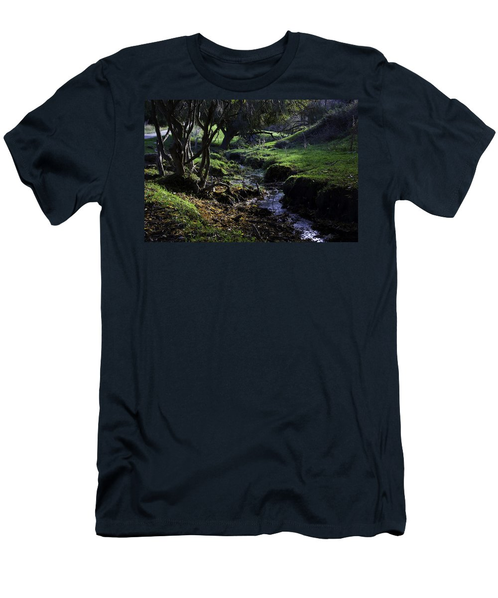 Stream Men's T-Shirt (Athletic Fit) featuring the photograph Little Stream by Kelly Jade King