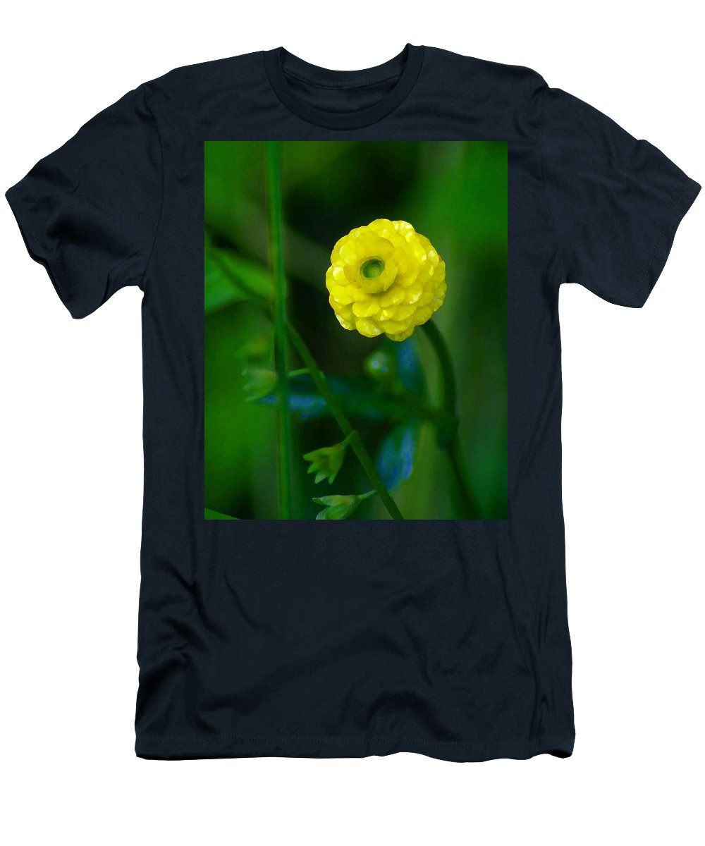 Flower Men's T-Shirt (Athletic Fit) featuring the photograph Living In The Moment by Ben Upham III