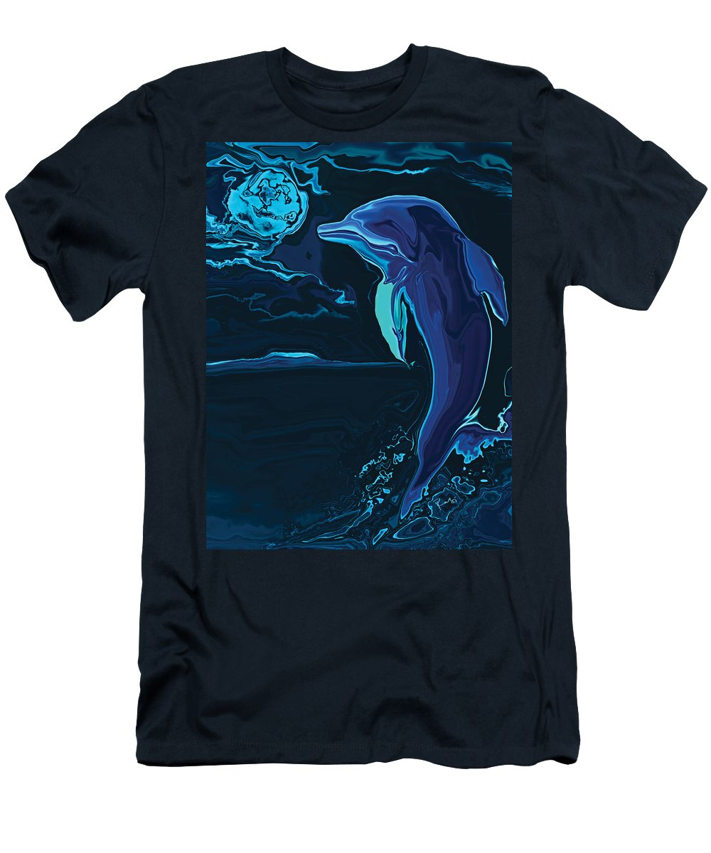 Animal Men's T-Shirt (Athletic Fit) featuring the digital art Lonely Tonight by Rabi Khan
