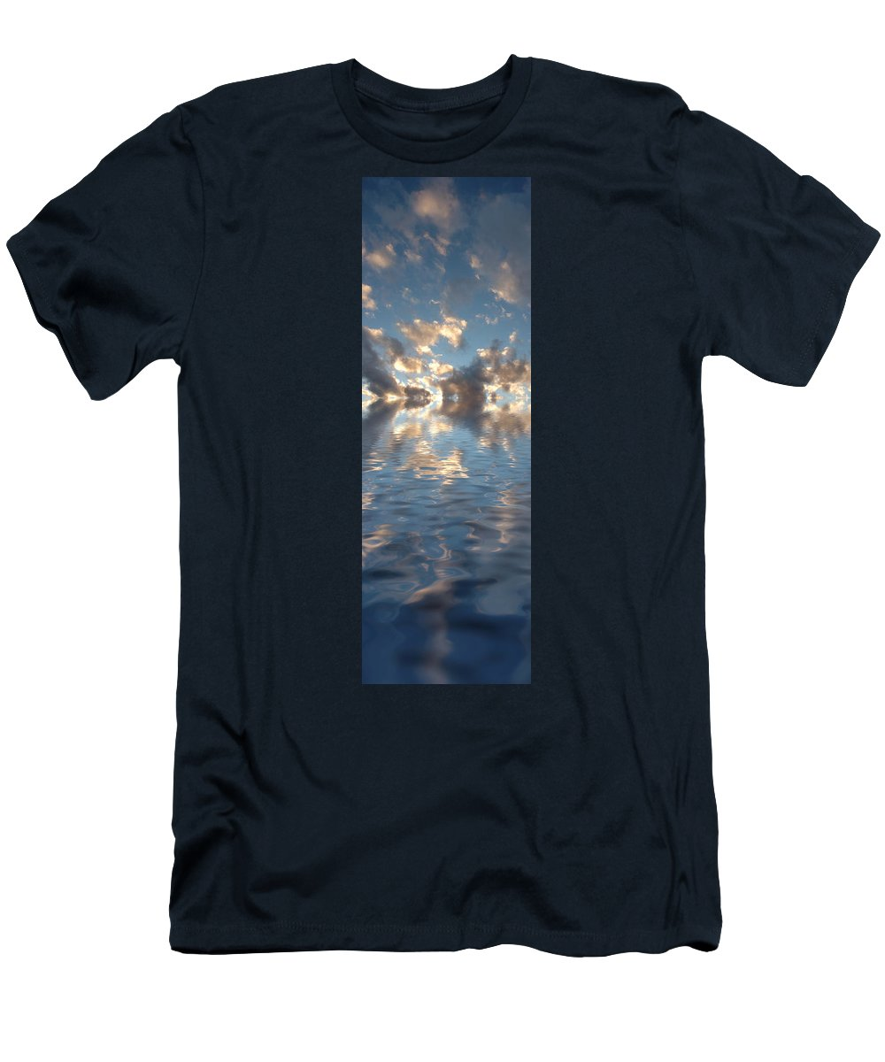 Water Men's T-Shirt (Athletic Fit) featuring the photograph Long Horizon by Jerry McElroy