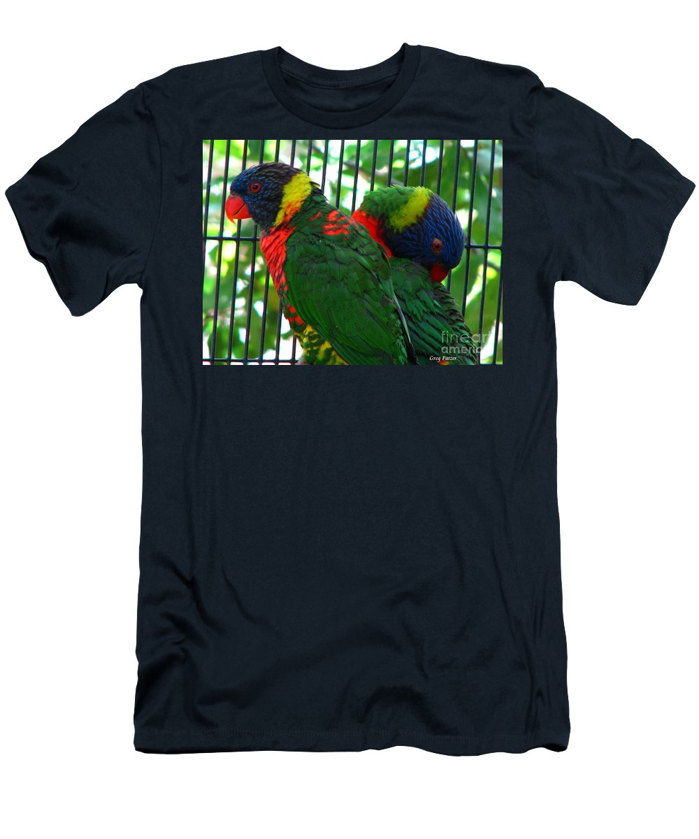 Patzer Men's T-Shirt (Athletic Fit) featuring the photograph Lory by Greg Patzer