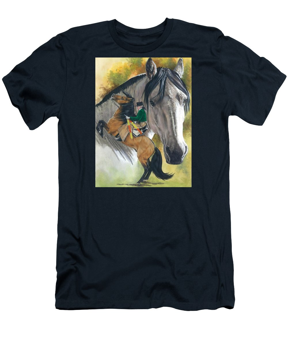 Hoof Stock Men's T-Shirt (Athletic Fit) featuring the mixed media Lusitano by Barbara Keith