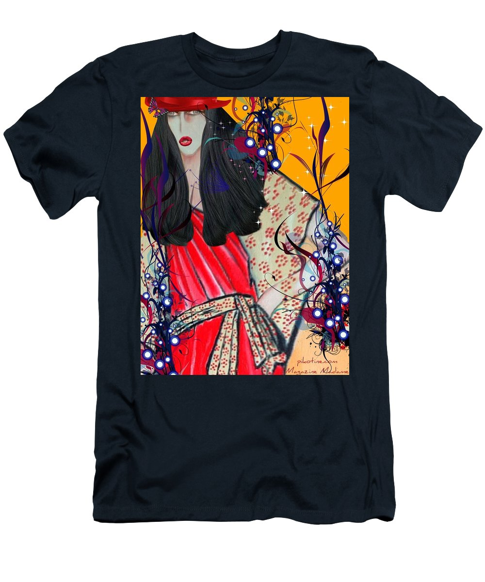 Mag Mad Olivia 1 Men's T-Shirt (Athletic Fit) featuring the digital art Mag Mad Olivia 1 by Pikotine Art