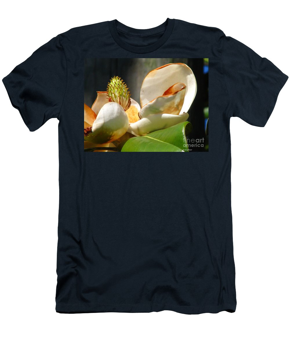 Patzer Men's T-Shirt (Athletic Fit) featuring the photograph Magnolia Sunburn by Greg Patzer