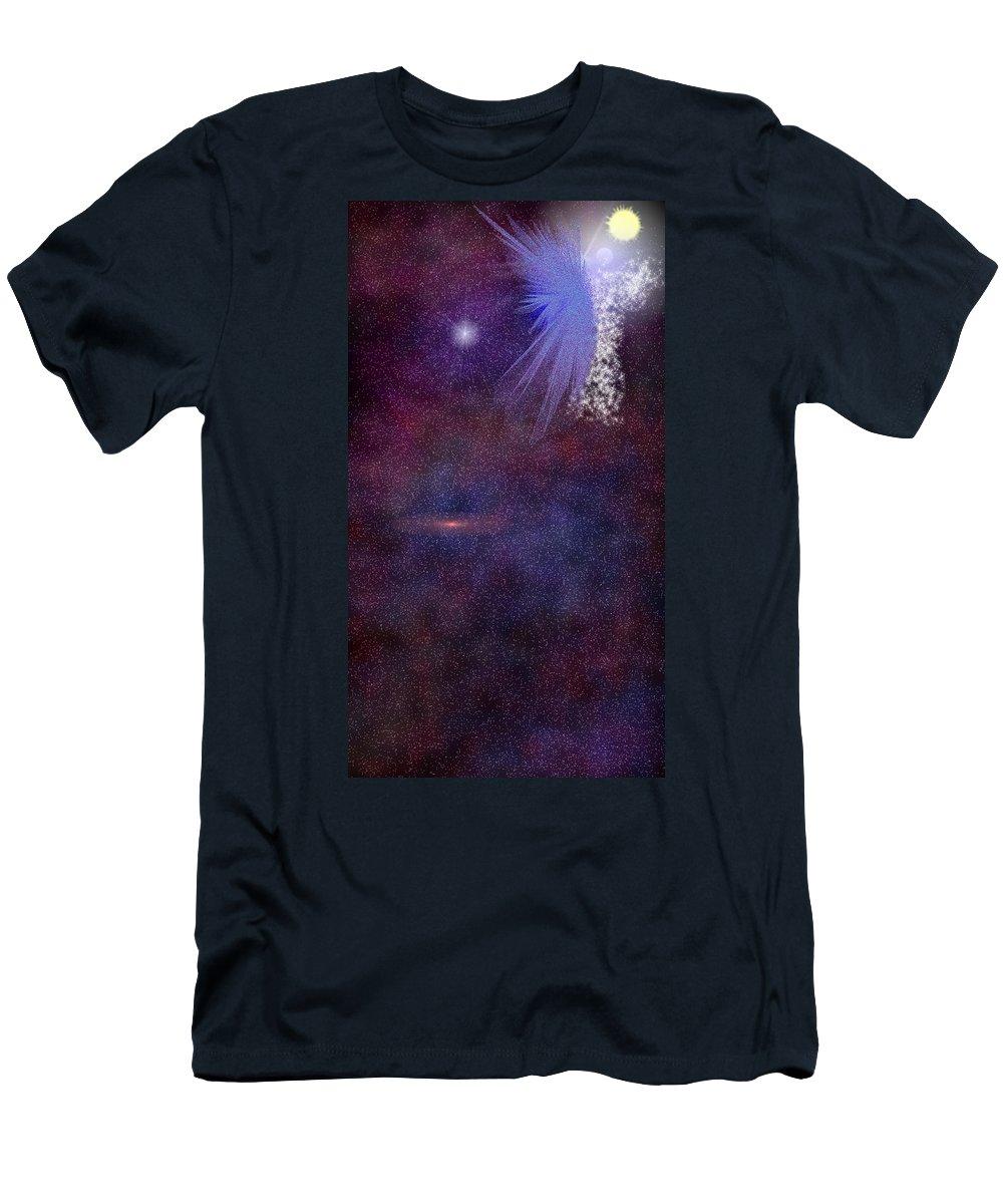 Angel Men's T-Shirt (Athletic Fit) featuring the digital art Matthew Book 1 Twenty Four by Carly Stroman