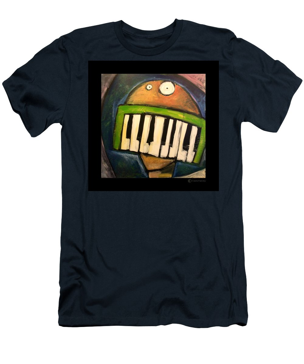 Funny Men's T-Shirt (Athletic Fit) featuring the painting Melodica Mouth by Tim Nyberg