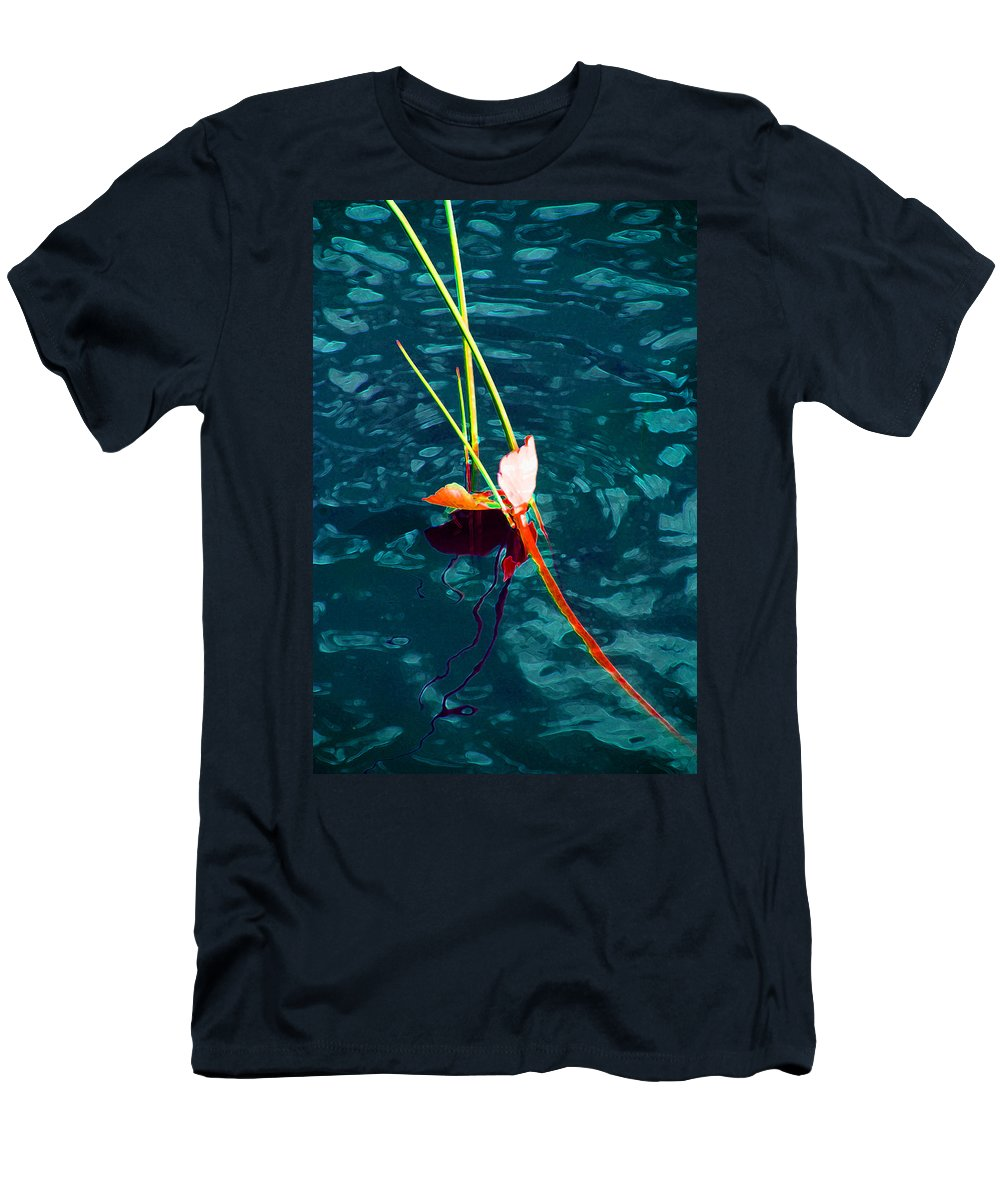 Melting Point Men's T-Shirt (Athletic Fit) featuring the photograph Melting Point by Susanne Van Hulst