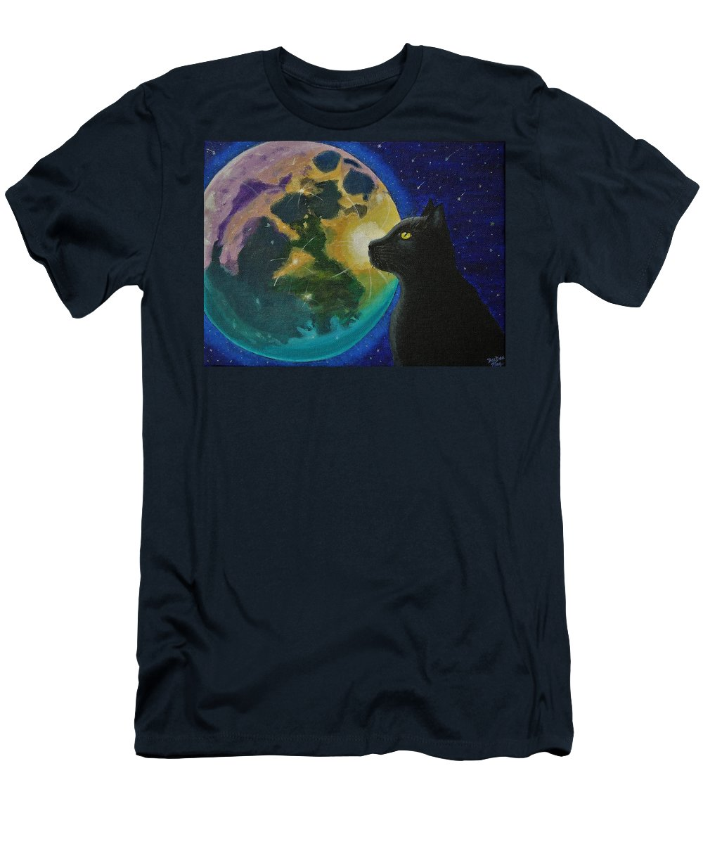 Animals Men's T-Shirt (Athletic Fit) featuring the painting Mesmerized by DeeDee Maz