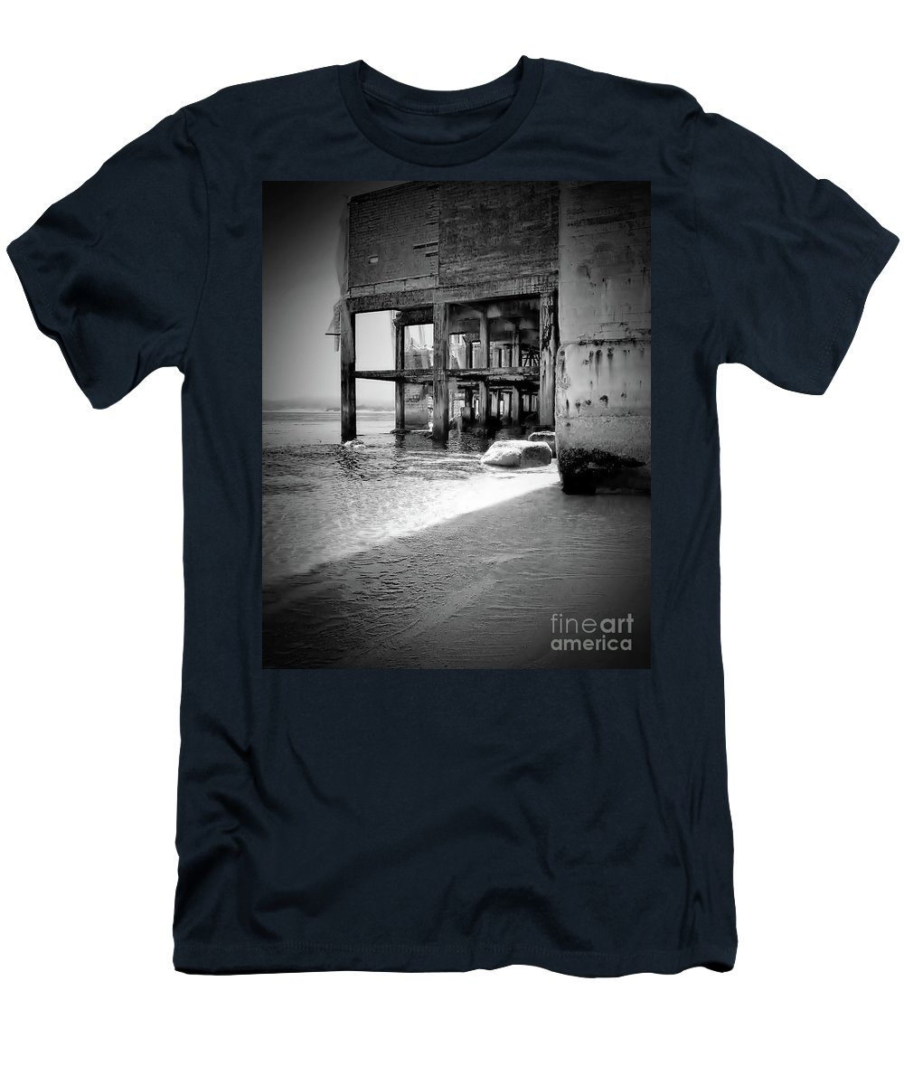 Beach Men's T-Shirt (Athletic Fit) featuring the photograph Mesmerizing Beach by Amy Delaine