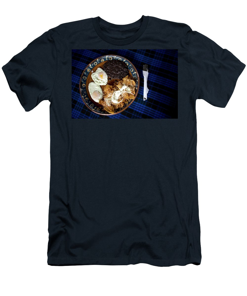 Cuetzalan Del Progreso Men's T-Shirt (Athletic Fit) featuring the photograph Mexican Breakfast by Chico Sanchez