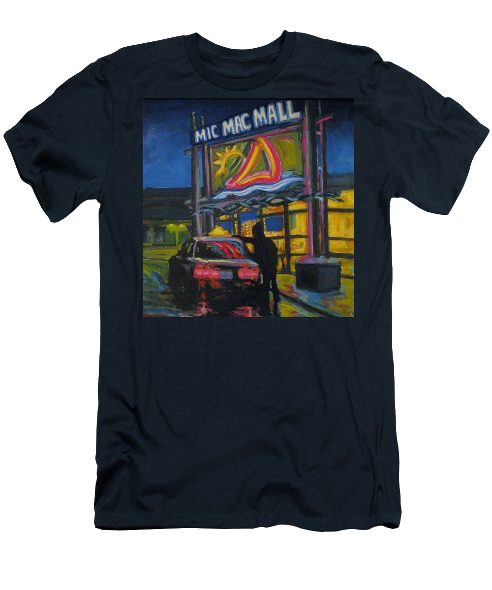 Retail Men's T-Shirt (Athletic Fit) featuring the painting Mic Mac Mall Spectre Of The Next Great Depression by John Malone