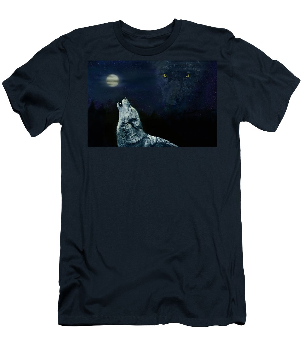 Animal Men's T-Shirt (Athletic Fit) featuring the digital art Midnight Communion by John Christopher