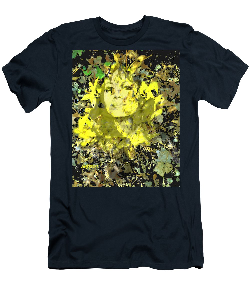 Mistress Of Autumn T-Shirt featuring the digital art Mistress of Autumn by Seth Weaver