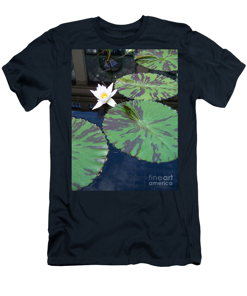Photograph Men's T-Shirt (Athletic Fit) featuring the photograph Monet Lilies White by Eric Schiabor