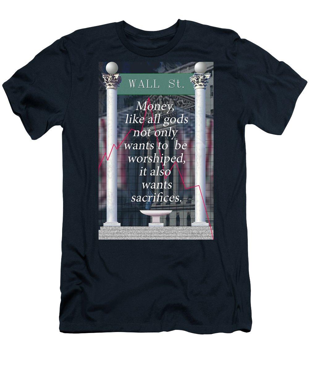 Politics Men's T-Shirt (Athletic Fit) featuring the digital art Money by Steve Karol