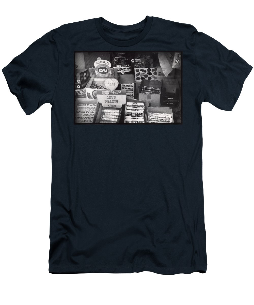 Candy Men's T-Shirt (Athletic Fit) featuring the photograph Monochrome Candy by Charles Stuart