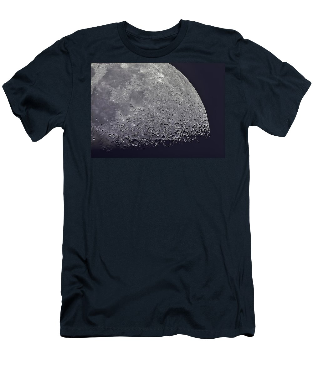 Moon Men's T-Shirt (Athletic Fit) featuring the photograph Moon by JoAnn McDonald