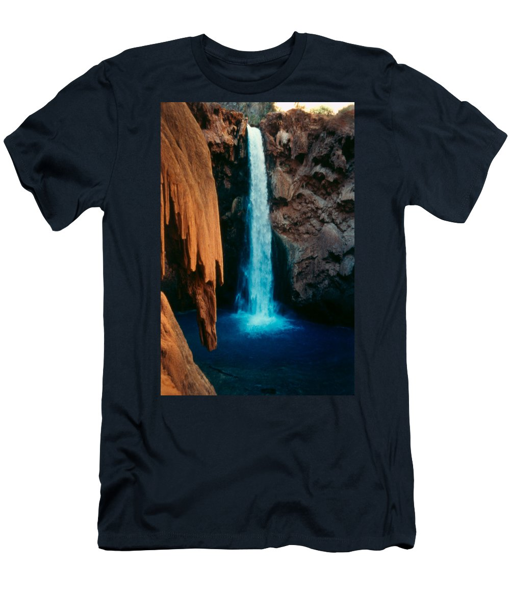 Men's T-Shirt (Athletic Fit) featuring the photograph Mooney Falls by Heather Kirk