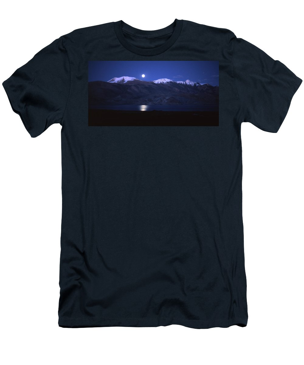 Moon Men's T-Shirt (Athletic Fit) featuring the photograph Moonlight Sonata by Patrick Klauss