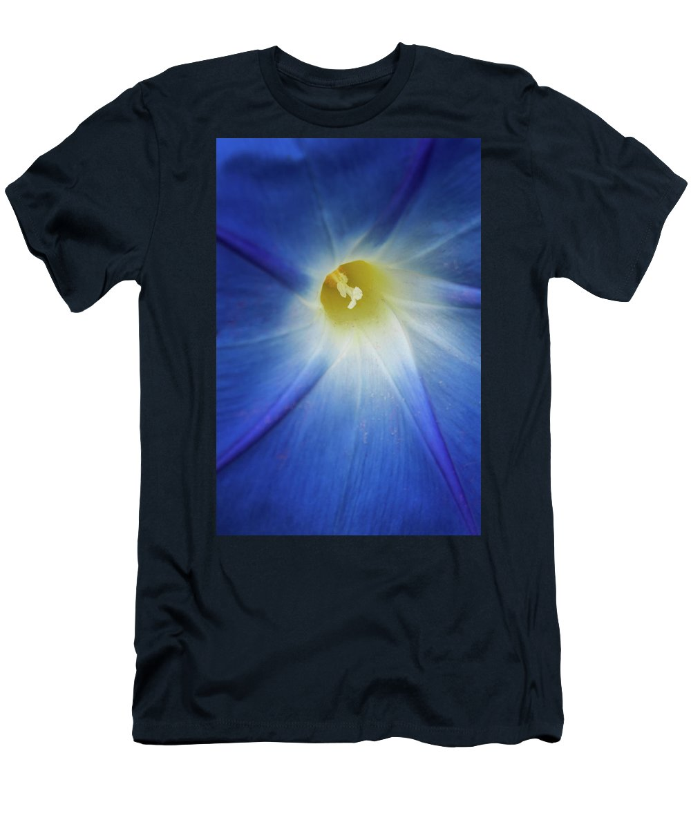 Morning Glory Men's T-Shirt (Athletic Fit) featuring the photograph Morning Blue by Jurgen Lorenzen