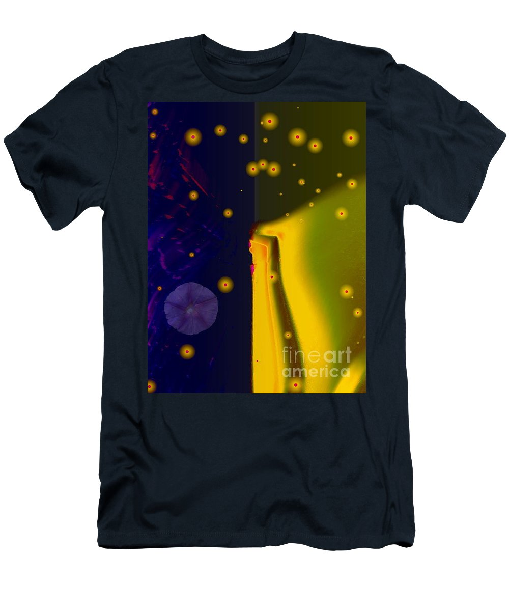 Blue Men's T-Shirt (Athletic Fit) featuring the photograph Morning Glory Dream by Dawn Downour