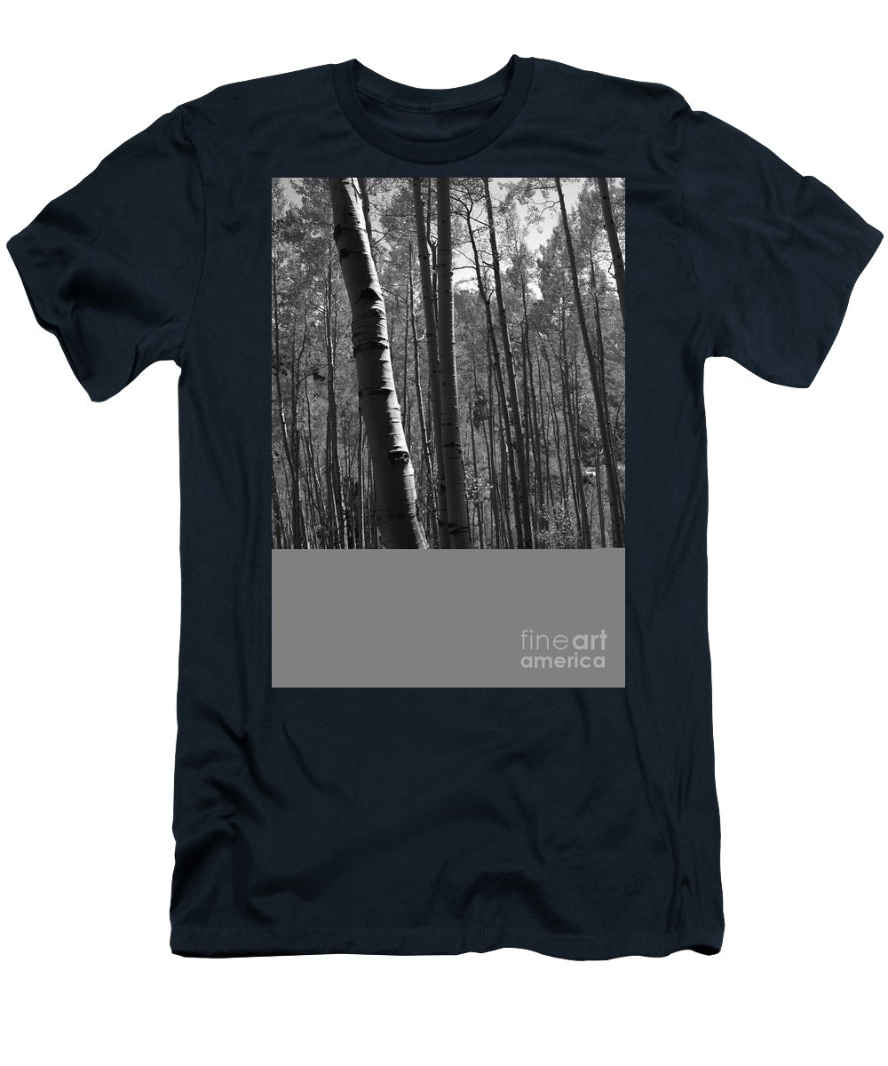 Mountains Men's T-Shirt (Athletic Fit) featuring the photograph Mountain Aspens by David Lee Thompson
