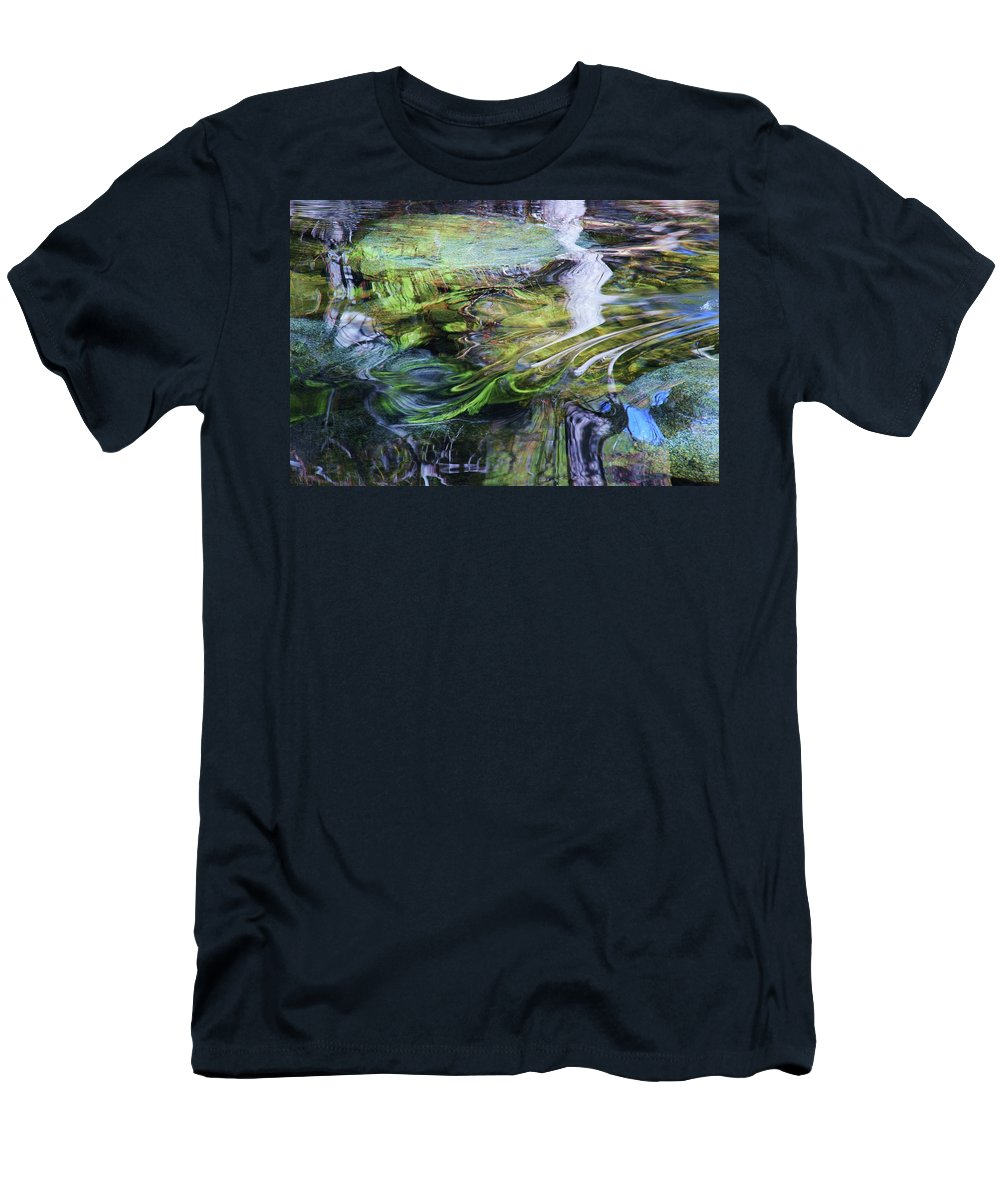 Landscape Men's T-Shirt (Athletic Fit) featuring the photograph Moving Water by Sean Sarsfield